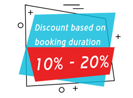 discount based on duration icon
